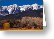 Fault Block Greeting Cards - Sangre Ranch Greeting Card by Paul Gana