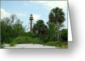 Sanibel Island Greeting Cards - Sanibel Island Lighthouse Greeting Card by Monica Lewis