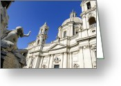 Church Photos Greeting Cards - Sant Agnese in Agone. Piazza Navona. Rome Greeting Card by Bernard Jaubert
