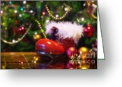 Claus Greeting Cards - Santa-claus boot Greeting Card by Carlos Caetano
