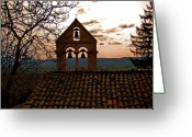 Assisi Greeting Cards - Santa Croce Bells Greeting Card by Al Bourassa