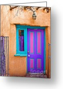 Santa Fe Greeting Cards - Santa Fe Door Greeting Card by Steve Sturgill