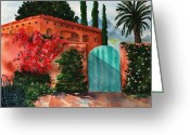 Plants Greeting Cards Greeting Cards - Santa Fe Dwelling Greeting Card by Sharon Mick