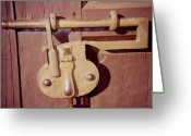 Old Lock Greeting Cards - Santa Fe Lock Down Greeting Card by Deborah J Humphries