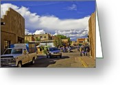 Santa Fe Greeting Cards - Santa Fe Plaza 2 Greeting Card by Madeline Ellis