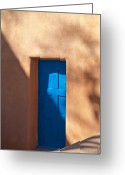 Adobe Greeting Cards - Santa Fe Portal Greeting Card by Steve Gadomski