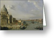 Canals Painting Greeting Cards - Santa Maria della Salute - Venice  Greeting Card by William James