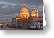 Venetian Architecture Greeting Cards - Santa Maria della Salute Greeting Card by Heiko Koehrer-Wagner