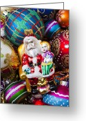 25th Greeting Cards - Santa ornament Greeting Card by Garry Gay