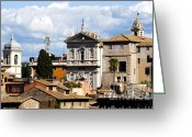 Rooftops Greeting Cards - Santi domenico e Sisto Greeting Card by Fabrizio Troiani
