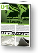 Philosophy Greeting Cards - Santiago Calatrava Poster Greeting Card by Irina  March
