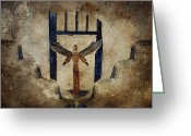 Rectangle Greeting Cards - Santo Greeting Card by Carol Leigh