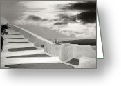 Thira Photo Greeting Cards - Santorini 01 Greeting Card by Manolis Tsantakis
