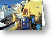 Thira Photo Greeting Cards - Santorini 021 Greeting Card by Manolis Tsantakis
