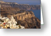 Thira Photo Greeting Cards - Santorini Greeting Card by Brian Jannsen