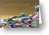 _york Greeting Cards - Santorini Greeting Card by Ilias Athanasopoulos