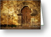 Entrance Door Greeting Cards - Santuary Greeting Card by Iris Greenwell