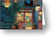 Cafe Greeting Cards - Sapore Di Mare Greeting Card by Guido Borelli
