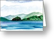 Virgin Islands Painting Greeting Cards - Sapphire Bay Greeting Card by Paul Gaj