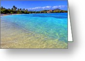 Virgin Islands Greeting Cards - Sapphire Glow Greeting Card by Scott Mahon
