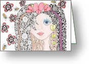 Paula Dickerhoff Greeting Cards - Sarah Greeting Card by Paula Dickerhoff