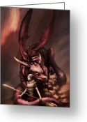 Armor Greeting Cards - Sarahs Dragon Greeting Card by Ethan Harris