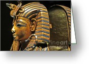 Tutankhamen Greeting Cards - Sarcophagus Greeting Card by Rrrose Pix