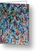 Silver Nude Painting Greeting Cards - Sasha Abstract 11 Greeting Card by Bradley Bishko