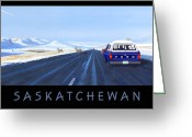 Prairie Landscape Greeting Cards - Saskatchewan Beauty Poster Greeting Card by Neil Woodward