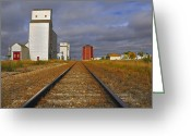 Train Track Greeting Cards - Saskatchewan Prairies Greeting Card by Tony Beck