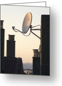 Antenna Greeting Cards - Satellite Dish Greeting Card by Mark Williamson