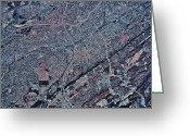 Birmingham Greeting Cards - Satellite View Of Birmingham, Alabama Greeting Card by Stocktrek Images