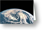 Space.planet Greeting Cards - Satellite View Of The Earths Surface Greeting Card by Stockbyte