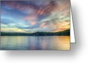 Tonemapped Greeting Cards - Saturday Night in Muskoka Greeting Card by Phill  Doherty