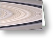 Saturn Greeting Cards - Saturns Ring System Greeting Card by Stocktrek Images