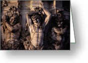 Balthasar Greeting Cards - Satyr Figures As Pilasters Decorating Greeting Card by Gordon Gahan