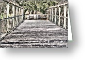 Discovery Channel Greeting Cards - Saucon Creek Bridge Greeting Card by D L McDowell-Hiss