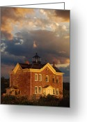 Lighthouse Home Decor Greeting Cards - Saugerties Ny Lighthouse Greeting Card by Skip Willits