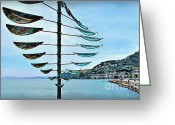 Sausalito Greeting Cards - Sausalito Coast Greeting Card by Joan  Minchak