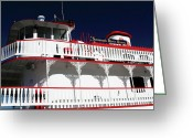 Savannah Artist Greeting Cards - Savannah River Queen Greeting Card by John Rizzuto