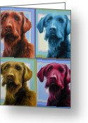 K9 Greeting Cards - Savannah the Labradoodle Greeting Card by Hans Droog