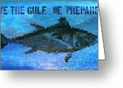 Gulf Of Mexico Greeting Cards - Save the Gulf America 2 Greeting Card by Paul Gaj