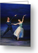 Marenart Greeting Cards - Save the last dance for me Greeting Card by Maren Jeskanen