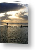 Sundown Greeting Cards - Savoring The Moment Greeting Card by Will Borden