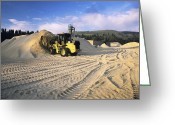 Mound Greeting Cards - Sawdust At A Sawmill Greeting Card by Alan Sirulnikoff