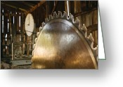 Saw Blade Greeting Cards - Sawmill Greeting Card by Daryl Marquardt