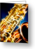 Hakon Greeting Cards - Saxophone 2 Greeting Card by Hakon Soreide