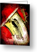 Sax Greeting Cards - Saxophone Greeting Card by David G Paul