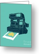 Camera Digital Art Greeting Cards - Say Cheese Greeting Card by Budi Satria Kwan