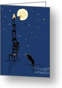 Night Scene Greeting Cards - Say Cheese Greeting Card by Laura Brightwood